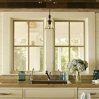 Shelter Interiors LLC - kitchens - cream cabinets, cream kitchen cabinets, gold countertops, stone countertops, gold stone countertops, cream paneling, cream wall panels, cream wall paneling, kitchen panels, kitchen wall paneling, kitchen sink, glass bell pendant, bell jar pendants, glass bell jar pendant, pendant over sink, pendant above sink, pendant over kitchen sink, pendant above kitchen sink, country cabinets, farmhouse kitchen cabinets,