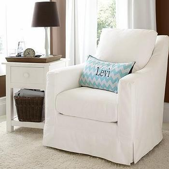 Seating - Tiburon Glider | Pottery Barn Kids - white twill glider, white slipcovered glider, white glider, slipcovered glider,