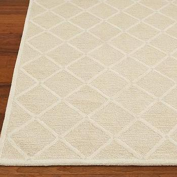 Hand Knot Diamond Trellis Rug 3 Colors Shades Of Light