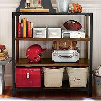 Storage Furniture - Tribeca Bookcase | Pottery Barn Kids - kids bookcase, industrial bookcase, industrial bookshelves, metal and wood bookcase, kids room storage, playroom storage,