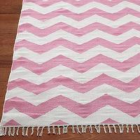 Rugs - Chevron Rug | Pottery Barn Kids - pink and white zig zag rug, pink and white chevron rug, pink and white dhurrie rug,