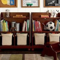 Storage Furniture - Catalina Console Bookcase | Pottery Barn Kids - console bookcase, cubby bookcase, cubbies, kids storage, kids bookcase, kids room storage, playroom storage,