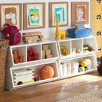 Storage Furniture - Bulk Bins | Pottery Barn Kids - bin storage, kids room storage, kids storage, white bin storage, white kids bin storage,