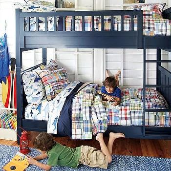 Beds/Headboards - Camp Bunk Bed | Pottery Barn Kids - navy blue bunk bed, navy bunk bed, navy blue bunkbeds,