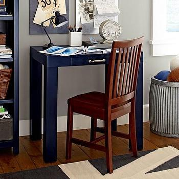 Tables - Parsons Mini Desk | Pottery Barn Kids - mini parsons desk, mini navy desk, small navy desk, navy parsons desk,