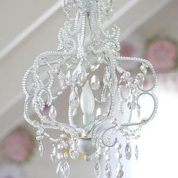 Lighting - Princess Chandelier | Pottery Barn Kids - princess chandelier, faceted bead mini chandelier, mini chandelier, mini beaded chandelier,