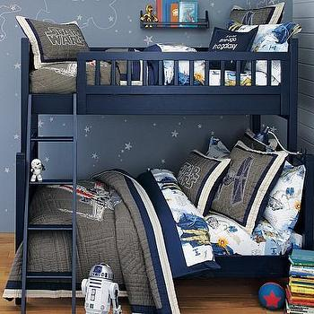 Beds/Headboards - Camp Twin-Over-Full Bunk Bed | Pottery Barn Kids - navy blue bunkbed, navy bunk beds, twin-over-full bunk bed, twin-over-full navy bunk bed,