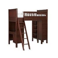 Beds/Headboards - Camp Bunk System | Pottery Barn Kids - espresso stained bunkbed, built-in bunk bed system, modular bunk bed, modular bunk bed system,