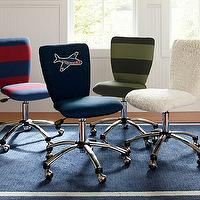 Seating - Square Upholstered Task Chair | Pottery Barn Kids - navy blue upholstered desk chair, upholstered task chair, navy blue and red striped desk chair, navy blue and green desk chair, shage upholstered desk chair,