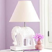 Lighting - Elephant Complete Lamp | Pottery Barn Kids - white ceramic elephant lamp, white elephant lamp, elephant lamp,