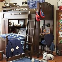 Beds/Headboards - Catalina Bunk System and Twin Bed Set | Pottery Barn Kids - built-in bunk bed, bunk bed with storage, bunk bed modular system, bunk bed with desk,