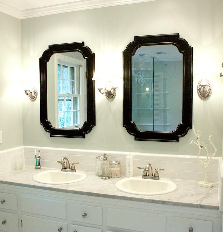 Lowes Bathroom Mirror  Traditional  bathroom  Sherwin Williams Sea