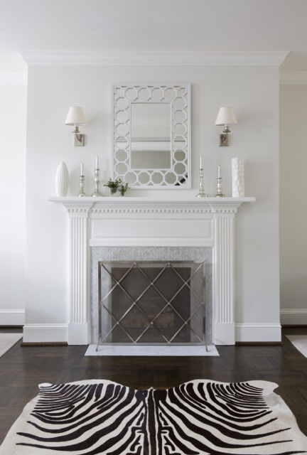 Fireplace Mirror Contemporary Living Room Sally