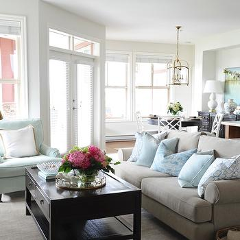 Gray Rolled Arm Sofa, Contemporary, living room, Kerrisdale Design