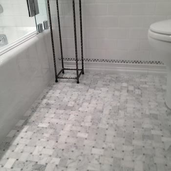 Marble Basketweave Tile, Traditional, bathroom, Courthouse Contractors