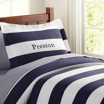 Rugby Stripe Duvet Cover, Pottery Barn Kids