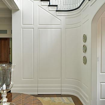 Hidden Bathroom Door, Traditional, entrance/foyer, Toby Leary Fine Woodworking