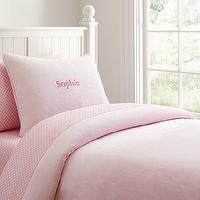 Bedding - Chamois Duvet Cover | Pottery Barn Kids - pink chamois duvet cover, pink bedding, girls pink duvet, girls pink bedding,