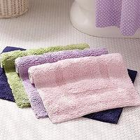 Bath - Classic Bath Mat | Pottery Barn Kids - pink cotton bath mat, navy blue cotton bath mat, green cotton bath mat, purple cotton bath mat,