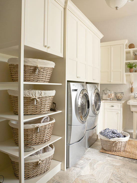 Laundry Sorter Ideas - Cottage - laundry room - BHG