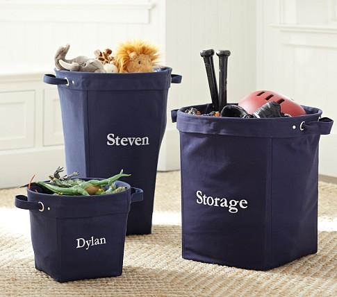 navy canvas storage pottery barn kids. Black Bedroom Furniture Sets. Home Design Ideas