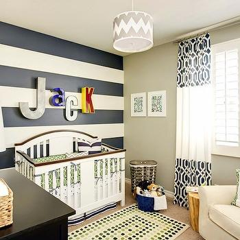J and J Design Group - nurseries - chevron chandelier, chevron drum pendant, white and gray chevron drum pendant, gray chevron drum pendant, boys lighting, boy nursery, boys nursery, accent wall, nursery accent wall, boy nursery accent wall, boys nursery accent wall, striped accent wall, horizontal striped accent walls, striped walls, nursery striped walls, striped nursery walls, horizontal striped nursery walls, nursery horizontal striped walls, white and blue striped accent wall, white and blue horizontal striped accent wall, white and navy blue accent wall, white and navy blue striped wall, white and navy blue horizontal striped wall, traditional cribs, boy cribs, boys cribs, nursery letters, nursery wall letters, wall letters, dwell studio fabric, crib bedding, dwell studio crib bedding, dwell studio gate fabric, blue and green rug, nursery rug, blue and green dots rug, slick fabric, navy slick fabric, slick fabric curtains, slick fabric drapes, navy slick fabric curtains, navy slick fabric drapes, glider, nursery glider, cream glider, cream nursery glider, changing table, boys changing table, striped nursery,