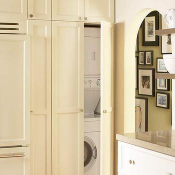 Washer and Dryer in Kitchen, Transitional, kitchen, Benjamin Moore