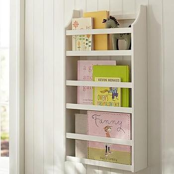 Hayden Simply White Magazine Rack, Pottery Barn Kids