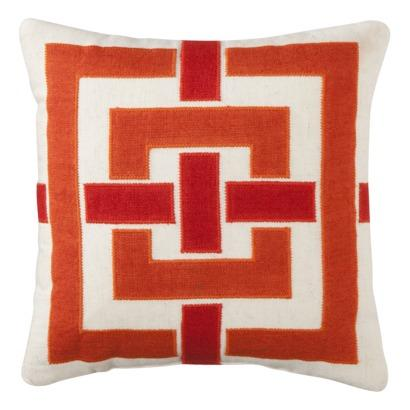 Pillows - Threshold Mini Applique Toss Pillow (12x12) I Target - mini orange pillow, mini orange applique pillow, orange applique pillow,