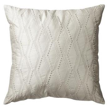 Pillows - Fieldcrest Luxury Benito Decorative Pillow I Target - ivory pillow, embroidered ivory pillow, decorative ivory pillow,