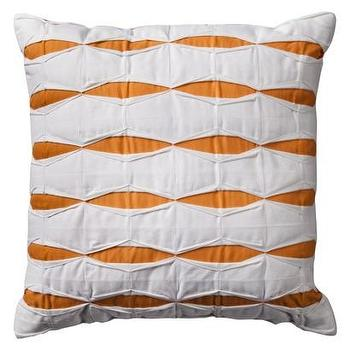 Pillows - Room Essentials Pintuck Decorative Pillow - Orange I Target - orange and white pintuck pillow, orange and white pillow, orange and white throw pillow,