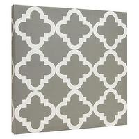 Art/Wall Decor - Canvas Tiles - Gray Lattice I Target - gray lattice canvas, gray lattice wall decor, gray lattice wall art,