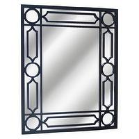 Mirrors - Threshold Lattice Mirror - Ebony I Target - black lattice mirror, black lattice framed mirror, black framed mirror,