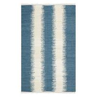 Rugs - Safavieh Flatweave Ikat Stripe Area Rug I Target - ikat stripe rug, blue and ivory striped rug, blue ikat striped rug,