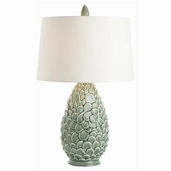 Lighting - Rae Celadon Porcelain Lamp I Cottage and Bungalow - celadon porcelain lamp, celadon lamp, celadon table lamp,