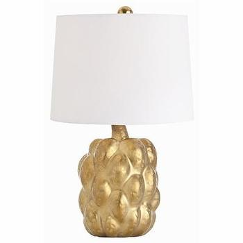 Lighting - Verner Matte Gold Porcelain Accent Lamp I Cottage and Bungalow - gold lamp, gold porcelain lamp, gold porcelain accent lamp,