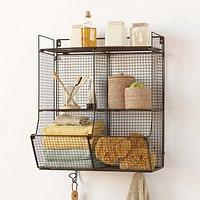 Art/Wall Decor - Four-Bin Wire Hanging Shelf I VivaTerra - four-bin wire hanging shelf, wire shelf, wire hanging shelf,