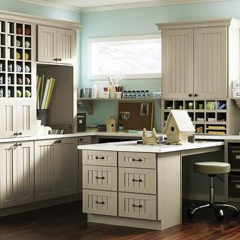 Martha Stewart Cabinets, Traditional, den/library/office, Martha Stewart