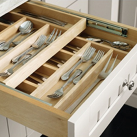 Martha Stewart - kitchens - Martha Stewart Seal Harbor Cabinet, beadboard fronted cabinet, beadboard fronted kitchen cabinets, white beadboard kitchen cabinets, white beadboard cabinets, divided cutlery drawer, double sliding cutlery dividers, cutlery drawer, cutlery storage, martha stewart cabinets, martha stewart kitchen cabinets,