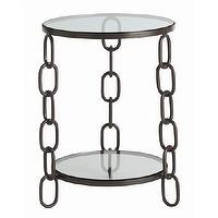 Tables - Paxton Chain Side Table I Cottage and Bungalow - chain side table, metal chain side table, sculptural metal side table,