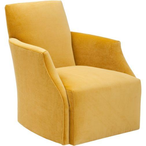 Seating - Jolie Swivel Chair, Vance Gold I High Fashion Home - gold velvet swivel chair, gold chair, velvet chair, vintage style swivel chair,