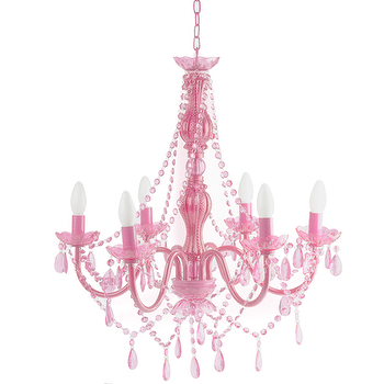 Lighting - Gypsy Chandelier Pink I High Fashion Home - pink chandelier, pink beaded chandelier, pink baroque chandelier,