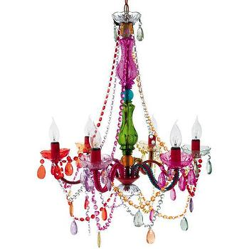 Lighting - Gypsy Multicolored Chandelier I High Fashion Home - multi-colored chandelier, rainbow colored chandelier, baroque multi-colored chandelier,