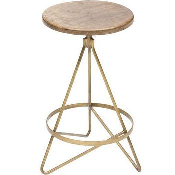Seating - Wyndham Swivel Counterstool I High Fashion Home - vintage brass counter stool, swivel counter stool, wood and brass counter stool,