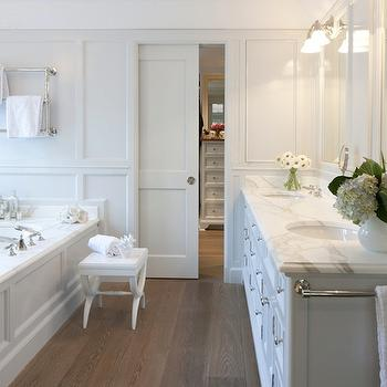 Light Gray Bathroom, Transitional, bathroom, Nightingale Design