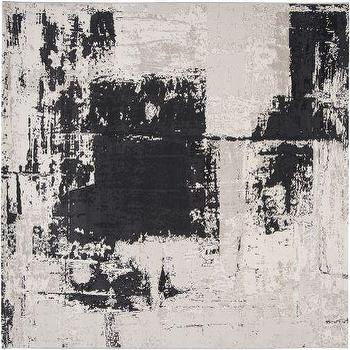 Rugs - Nuage NUA-1004, Gray Black Rug I High Fashion Home - gray and black rug, abstract gray rug, abstract black rug,