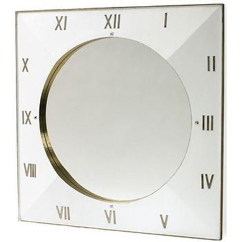 Mirrors - Slick Mirror I High Fashion Home - clock mirror, clock edged mirror, number edged mirror,