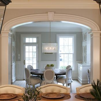 Carriage Lanterns, Transitional, dining room, Nightingale Design