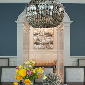Capiz Chandelier, Transitional, dining room, Nightingale Design