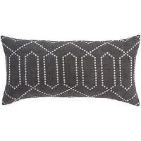 Pillows - Dotted Trellis Charcoal Pillow I High Fashion Home - charcoal pillow, gray trellis pillow, charcoal gray trellis pillow,